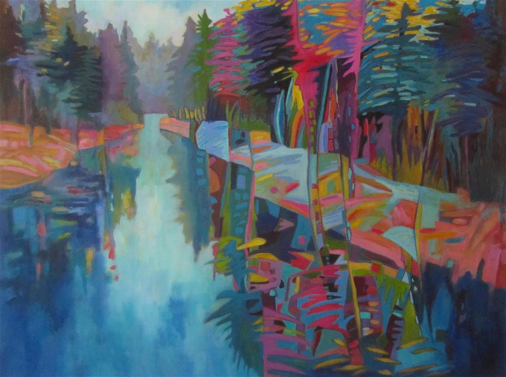 """Radiant River"" original fine art by Patricia MacDonald"