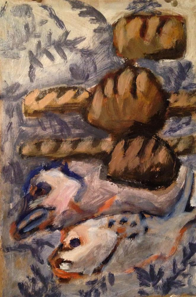"""Five Loaves, Two Fishes or 'Possibility'"" original fine art by Pamela Hoffmeister"