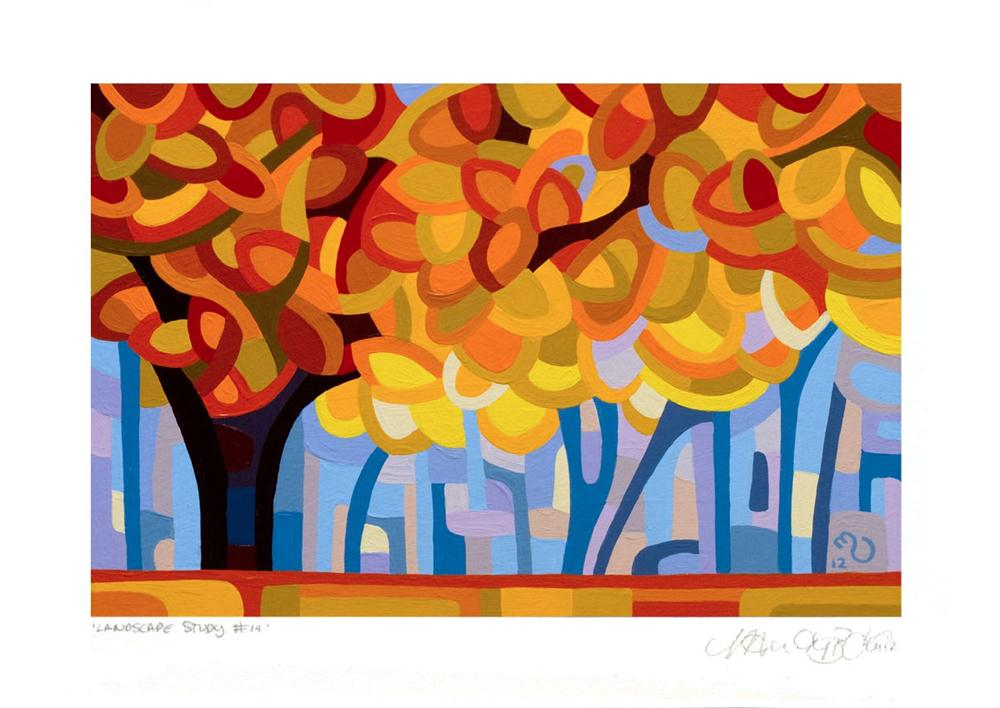 """Landscape Study #14"" original fine art by Mandy Budan"