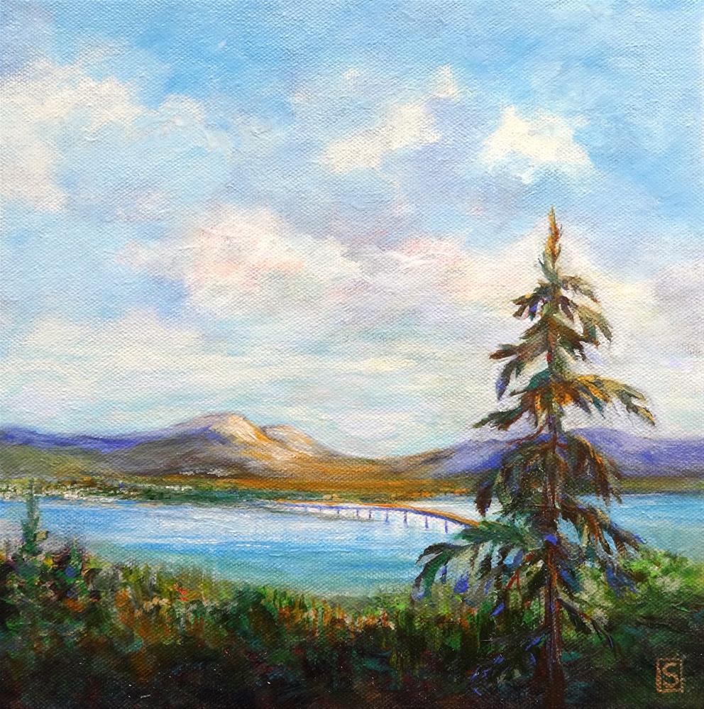 """6054 - Black Mountain Vista"" original fine art by Sea Dean"