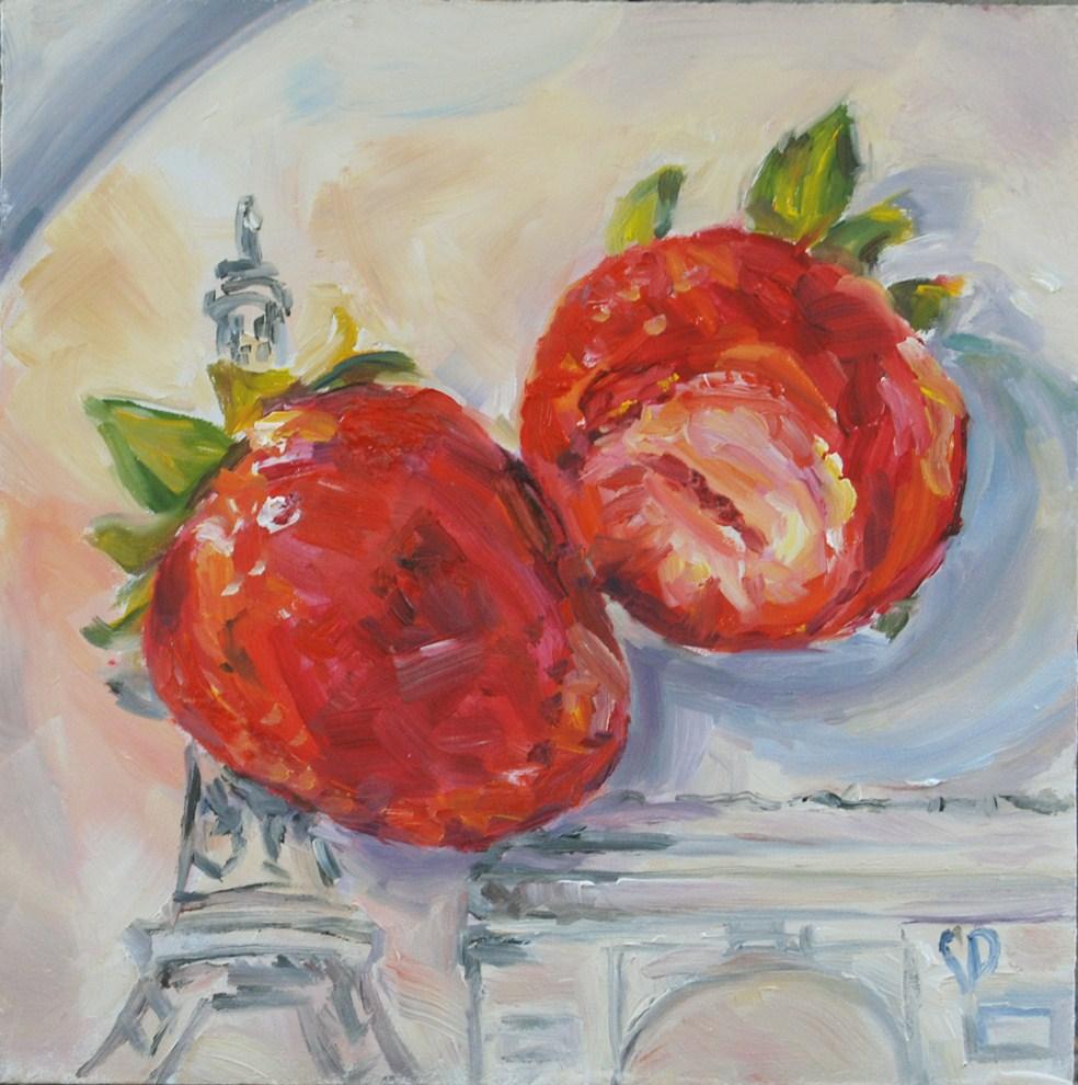 """""""Paris Treat"""" original fine art by Carol DeMumbrum"""