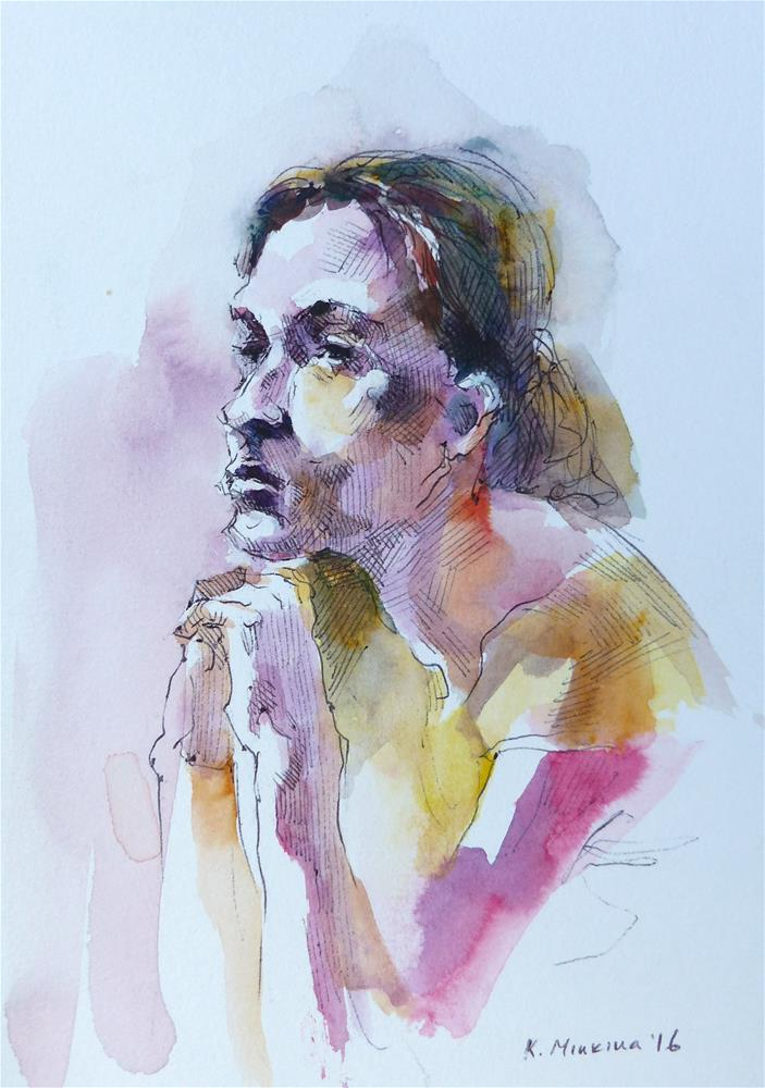 """sketchbook#24"" original fine art by Katya Minkina"