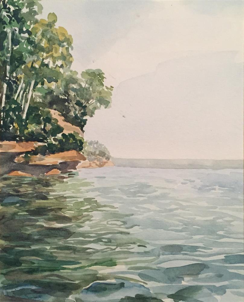 """Madeline island"" original fine art by Natasha Ramras"