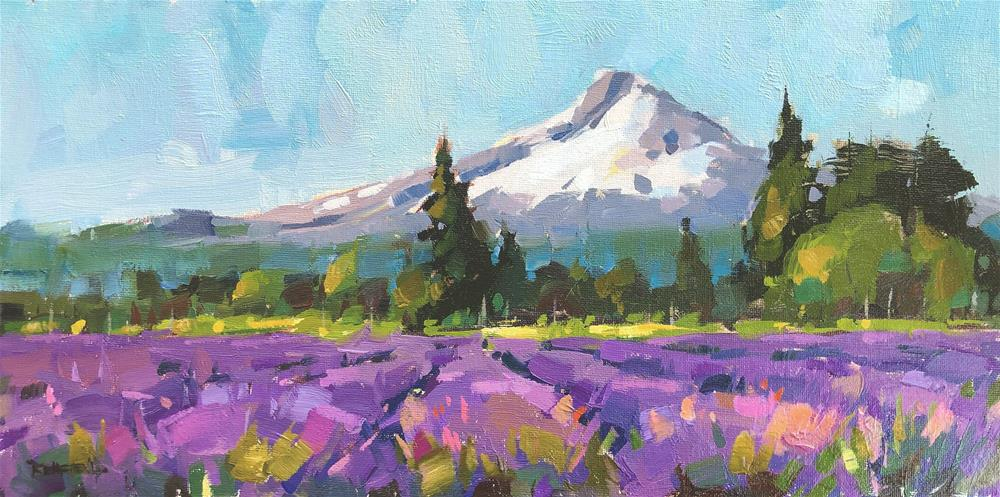 """Lavender Fields Forever"" original fine art by Cathleen Rehfeld"