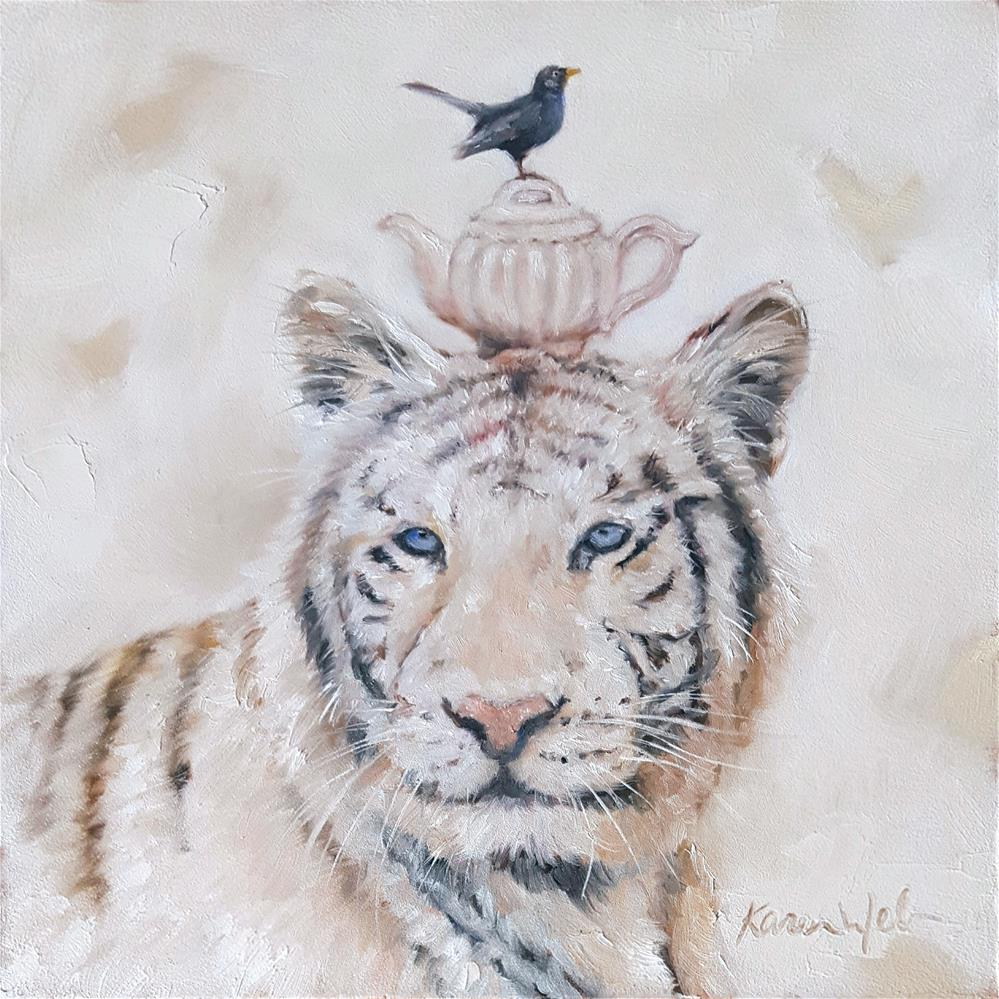 """Tyger Tyger"" original fine art by Karen Weber"