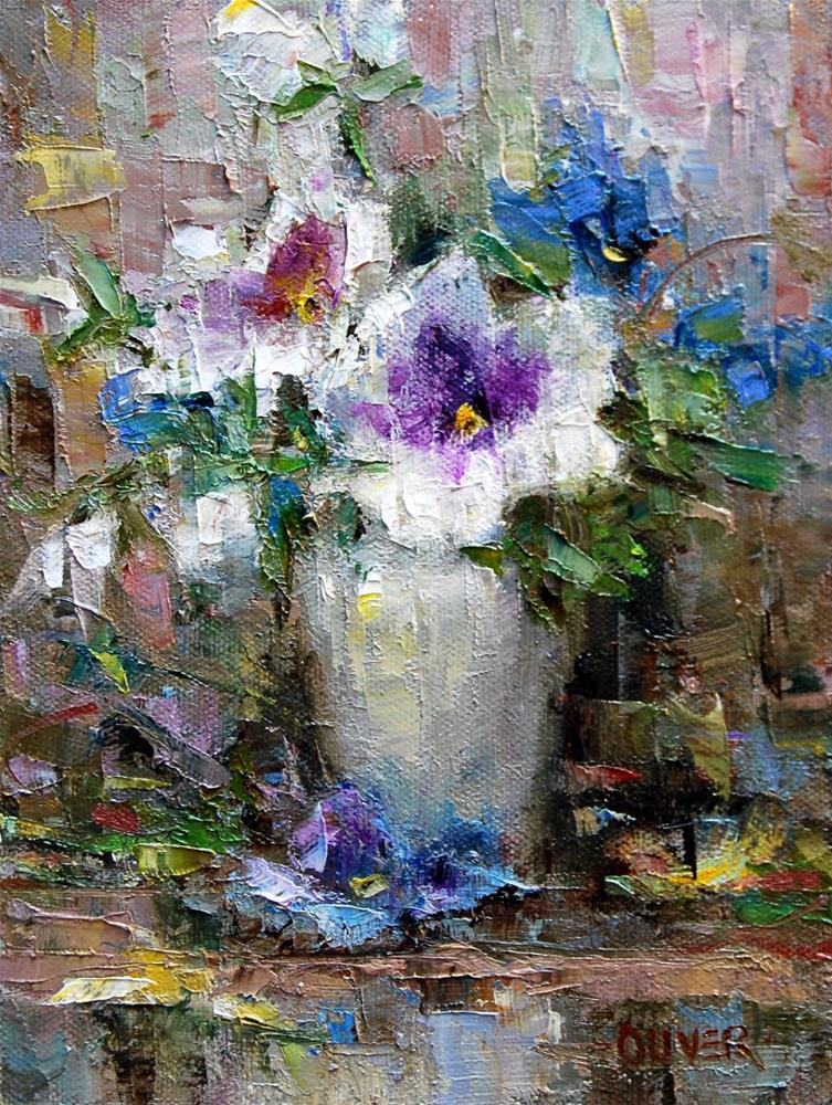 """Pansy Pleasure... continued"" original fine art by Julie Ford Oliver"