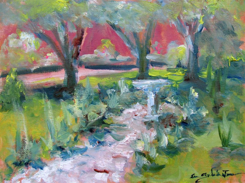 """Gardens at Rippavilla"" original fine art by Susan Elizabeth Jones"