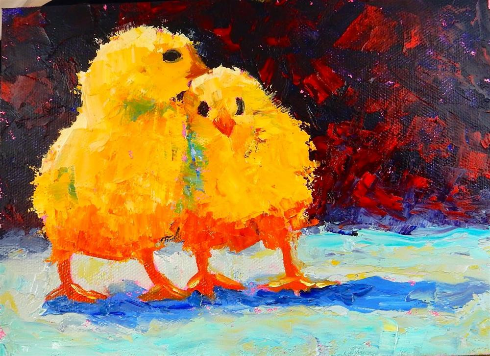"""Sisters"" original fine art by Phyllis Davis"