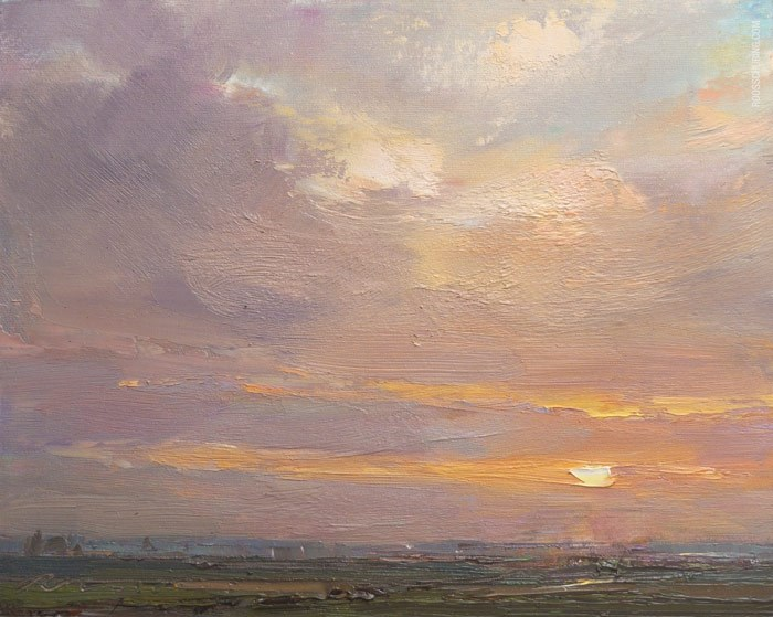 """Soft Sunrise"" original fine art by Roos Schuring"