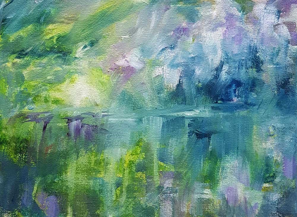 """They Walked Hand in Hand"" original fine art by Sue Dion"