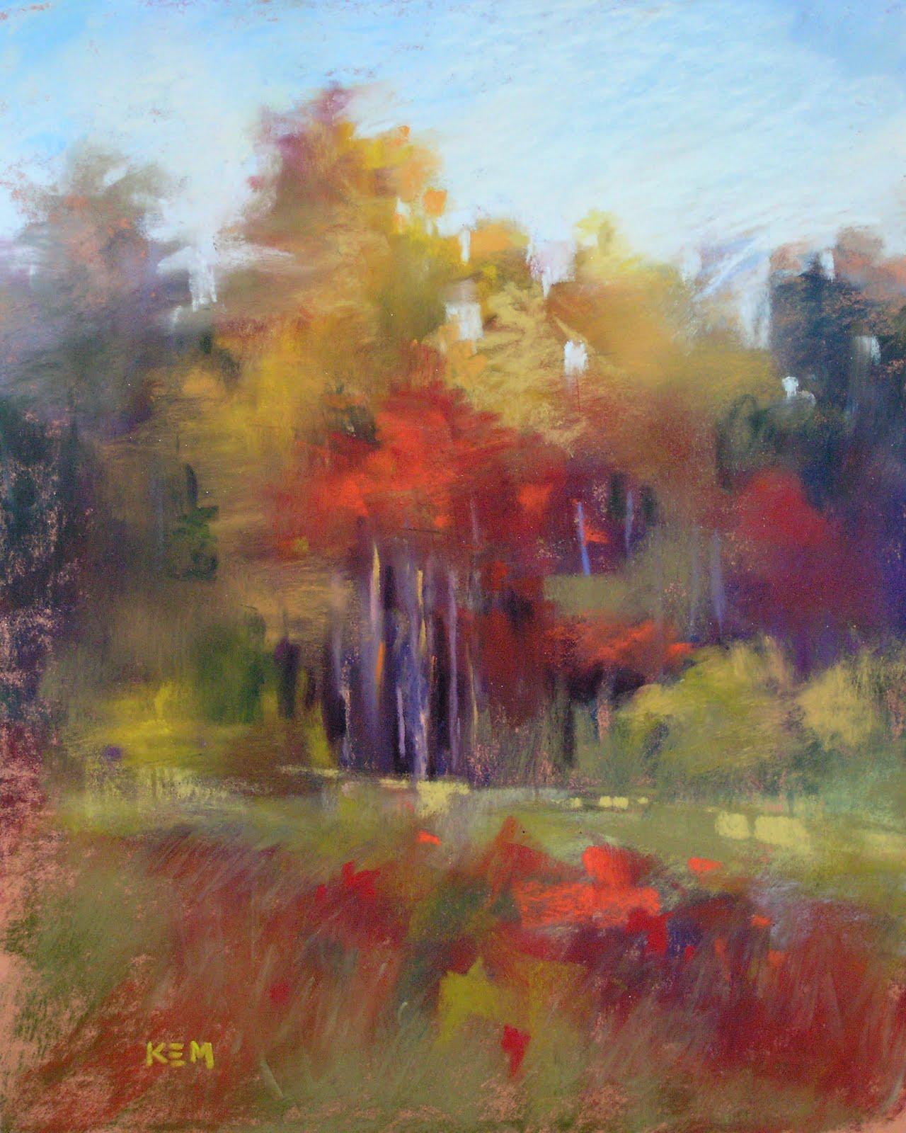 """Another Version of Autumn Trees"" original fine art by Karen Margulis"