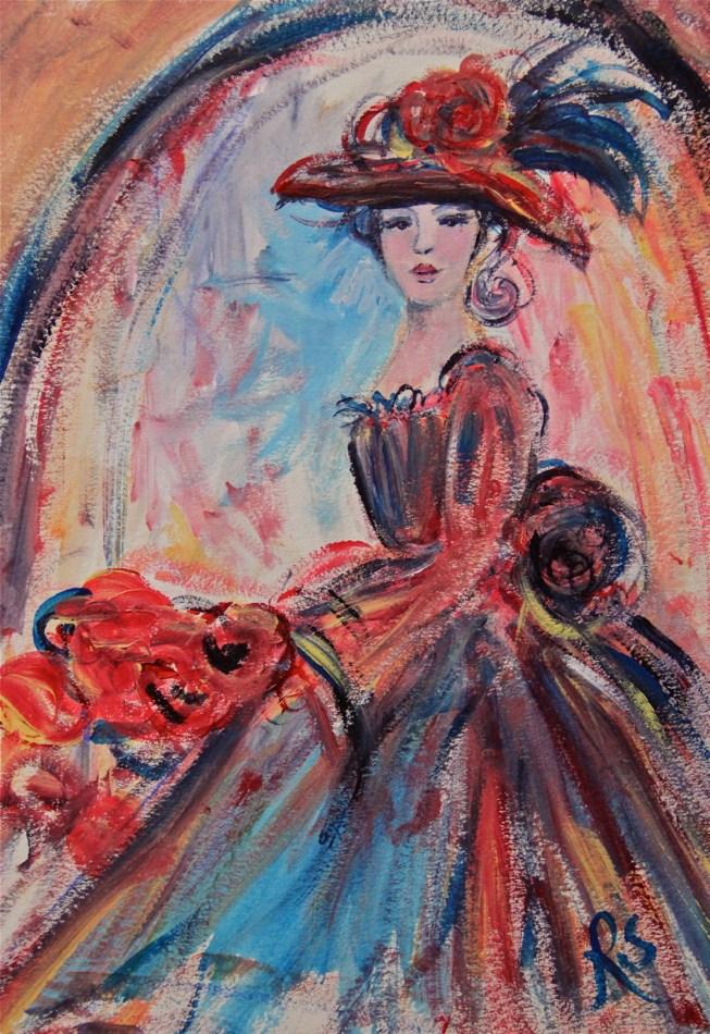 """At The Flower Market"" original fine art by Roberta Schmidt"