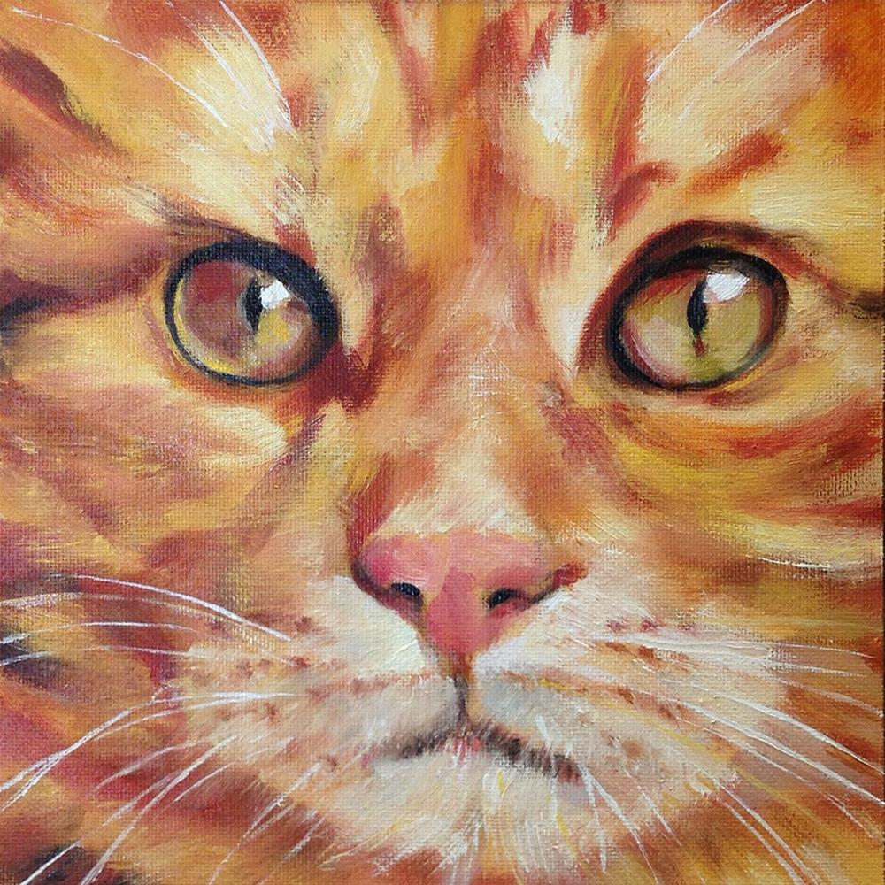"""Don't Look At Me"" original fine art by Linda Lowery"