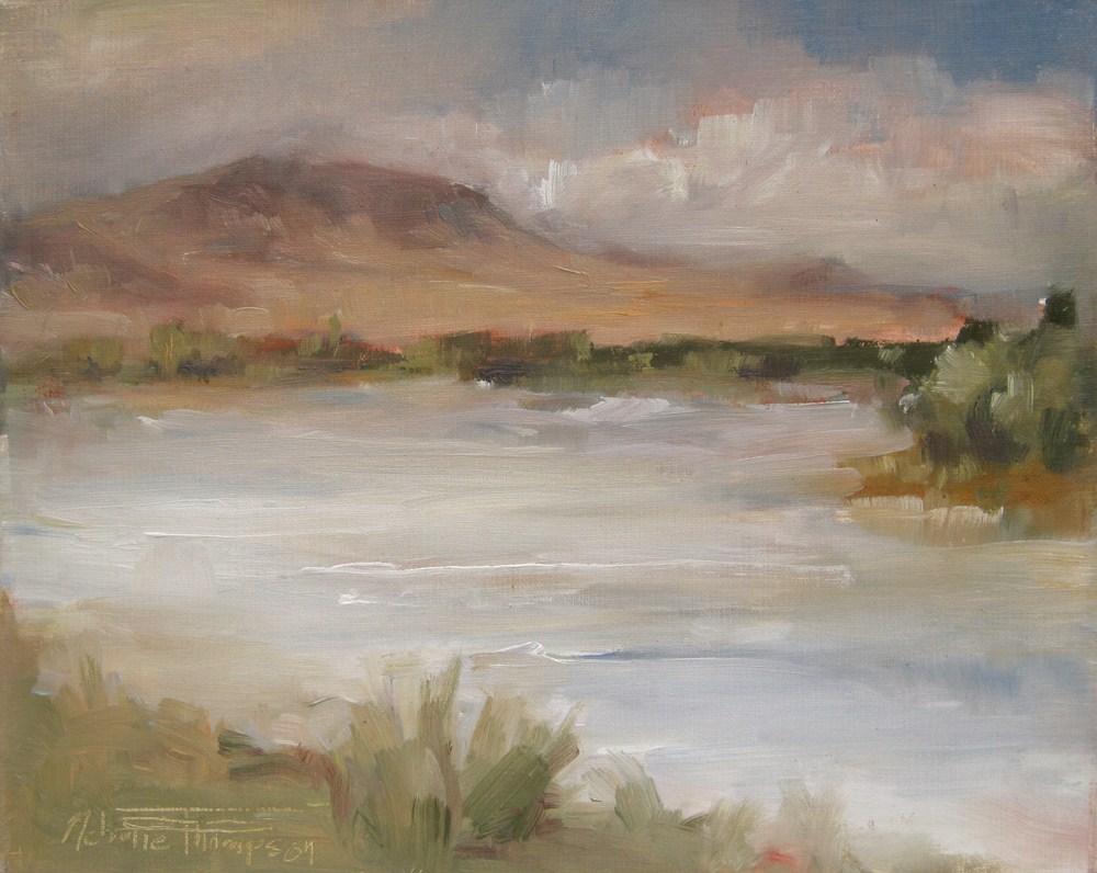 """Around the Bend - Plein air oil painting"" original fine art by Melanie Thompson"