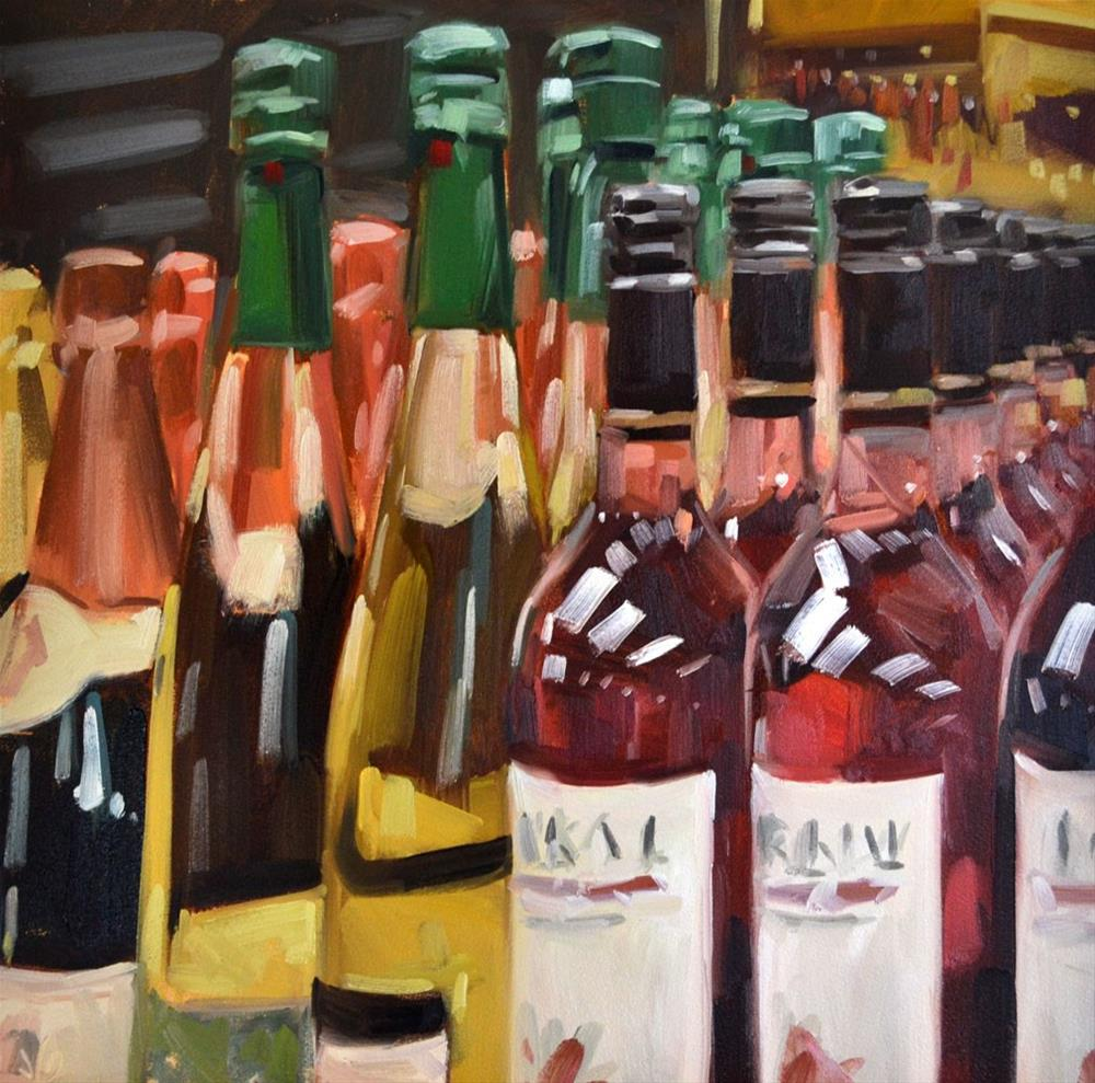 """Wine"" original fine art by Jessica Green"