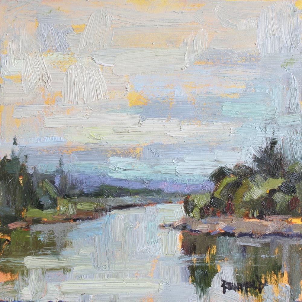 """Plein Air Sketch, George Rogers Park, Lake Oswego, Oregon"" original fine art by Cathleen Rehfeld"