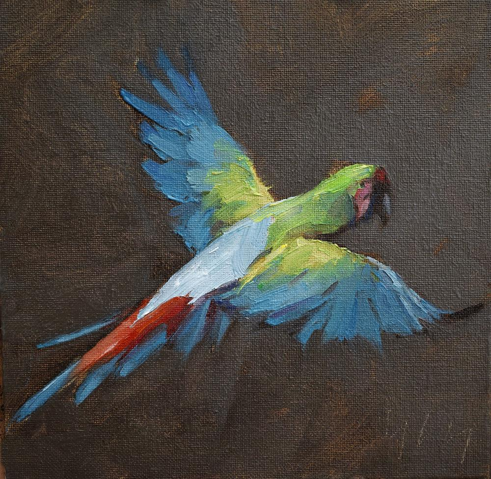 """Psittaciformes"" original fine art by Yuehua He"
