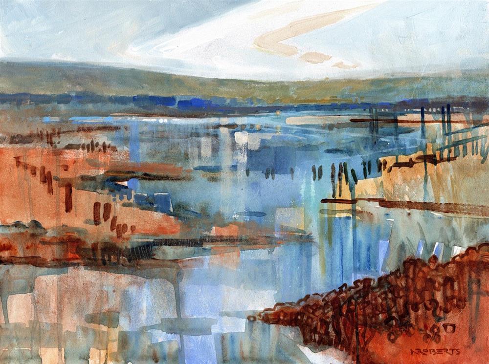 """Rising Tide, Bay Point"" original fine art by Nancy Roberts"