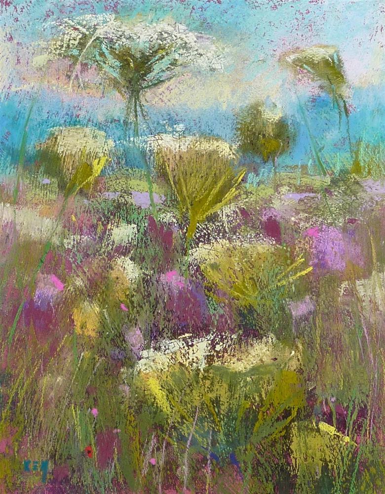 """The Secret to Painting  Wildflowers"" original fine art by Karen Margulis"