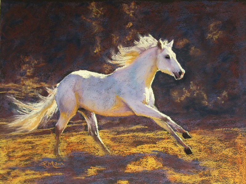 """White Beauty"" original fine art by Ruth Mann"