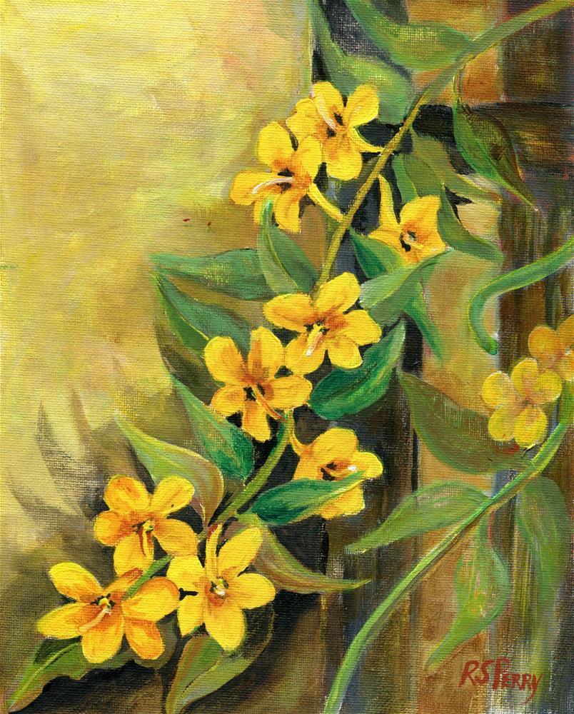"""Yellow Jessamine "" original fine art by R. S. Perry"