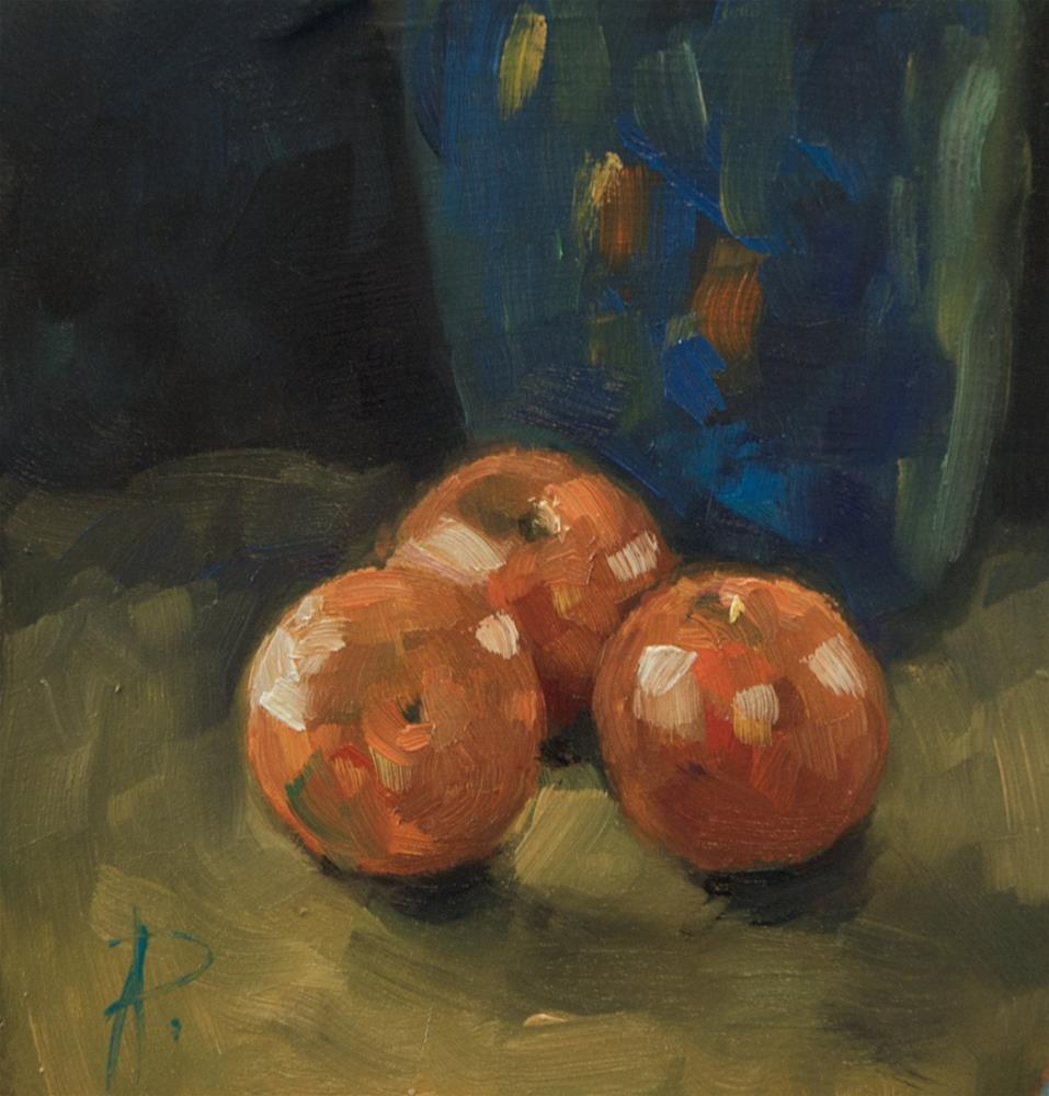 """""""Fruit with Blue Jug"""" original fine art by Andre Pallat"""