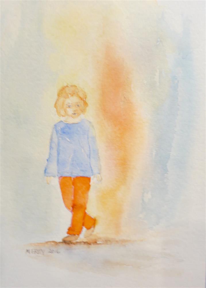 """Girl 0103"" original fine art by Michelina Frey"