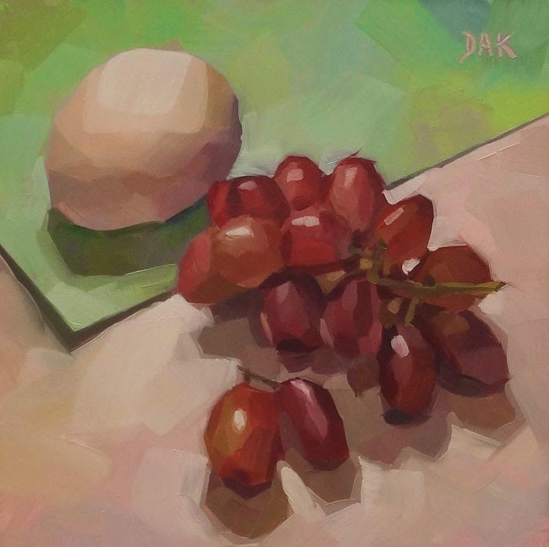 """Grapes Of Breaking Fast"" original fine art by Deborah Ann Kirkeeide"
