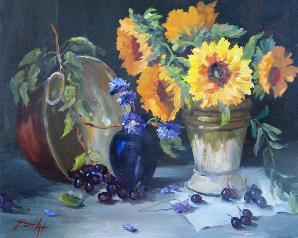 """Sunflower Still Life"" original fine art by Delilah Smith"
