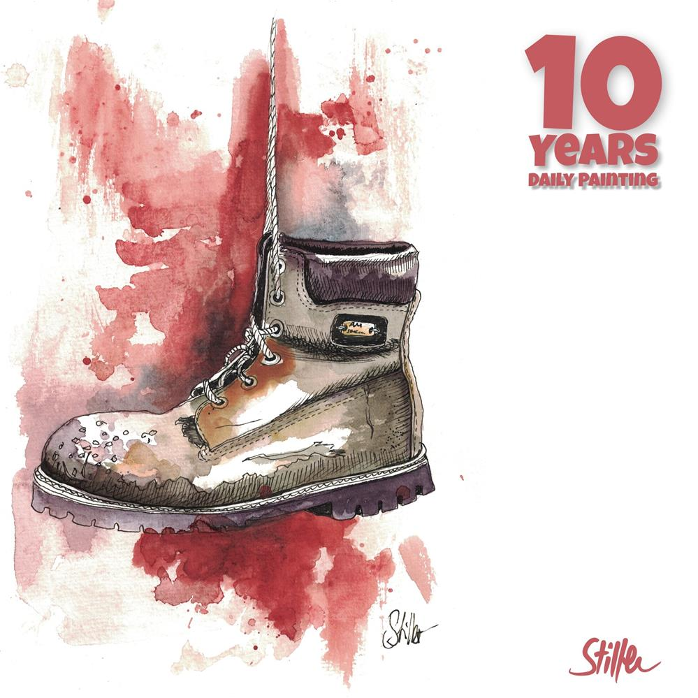 """3681 Cheesy Shoes"" original fine art by Dietmar Stiller"