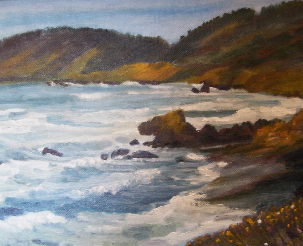 """California Coast Challenge"" original fine art by Patricia J. Powers"
