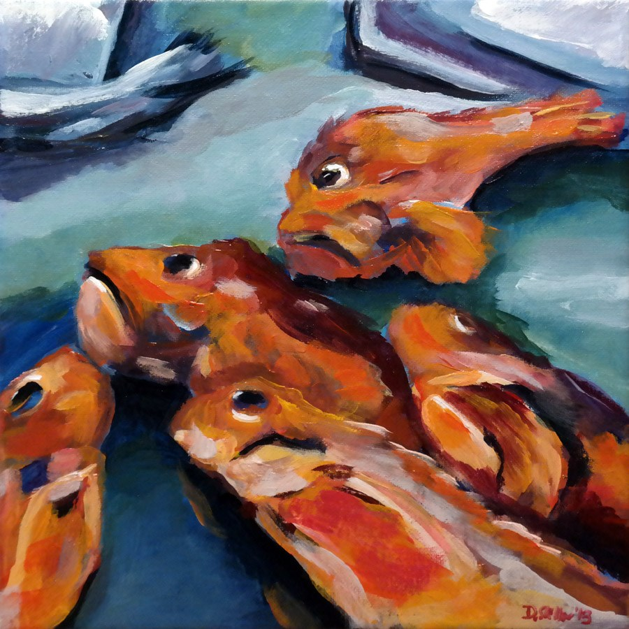 """0808 Sticky Fish"" original fine art by Dietmar Stiller"