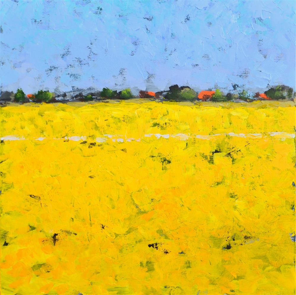 """""""Coleseedfields in the polder"""" original fine art by Wim Van De Wege"""