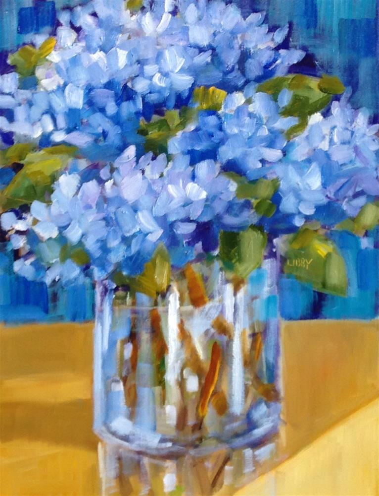 """Truest Blue"" original fine art by Libby Anderson"