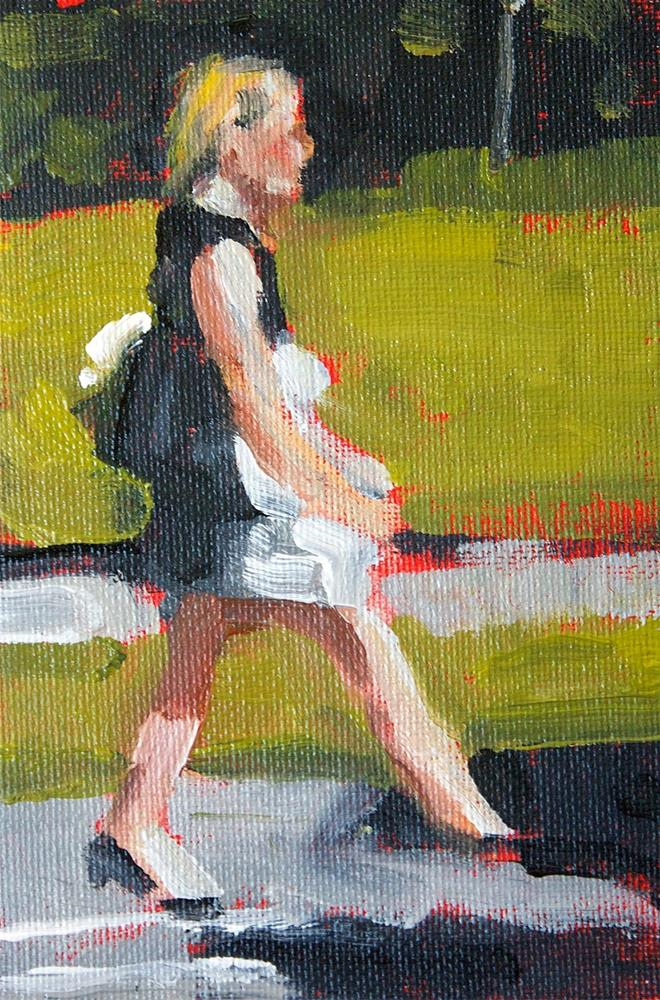 """Park Strut"" original fine art by J. Farnsworth"