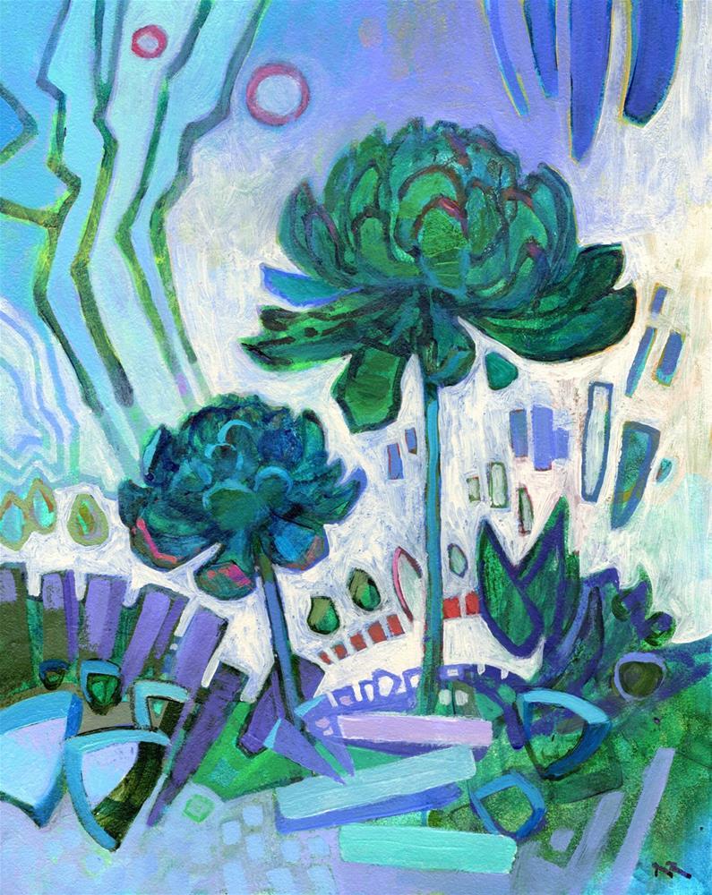 """Aeoniums"" original fine art by Nancy Roberts"
