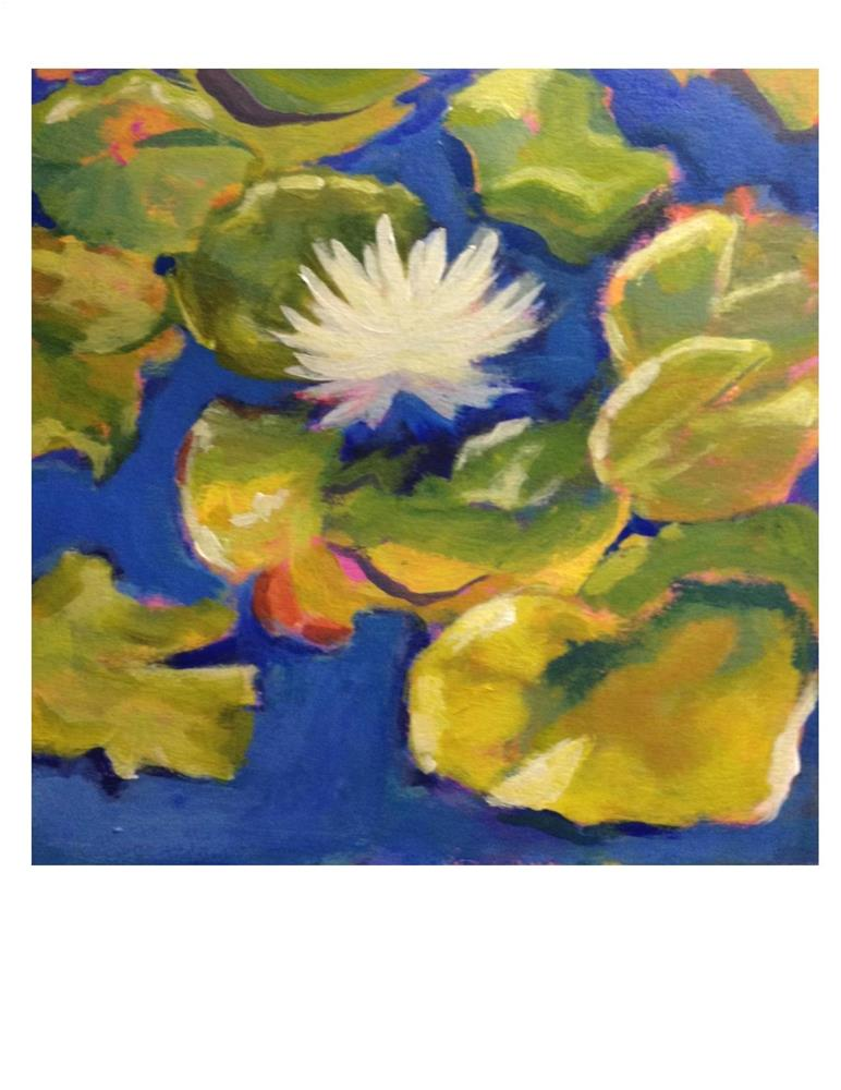 """""""Lily Pads"""" original fine art by Suzanne Woodward"""