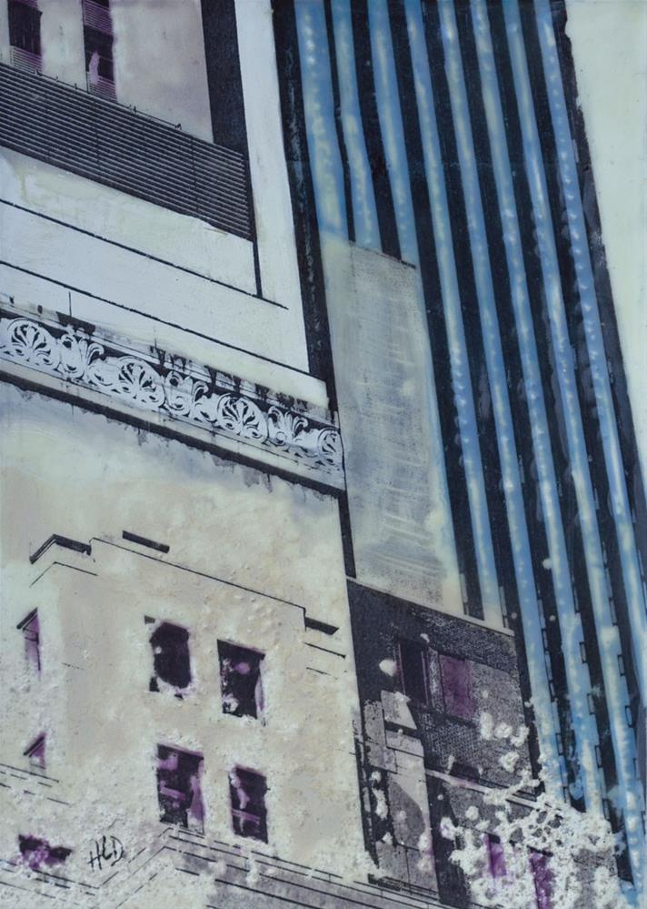 """Buildings Incorporated"" original fine art by Heather Douglas"
