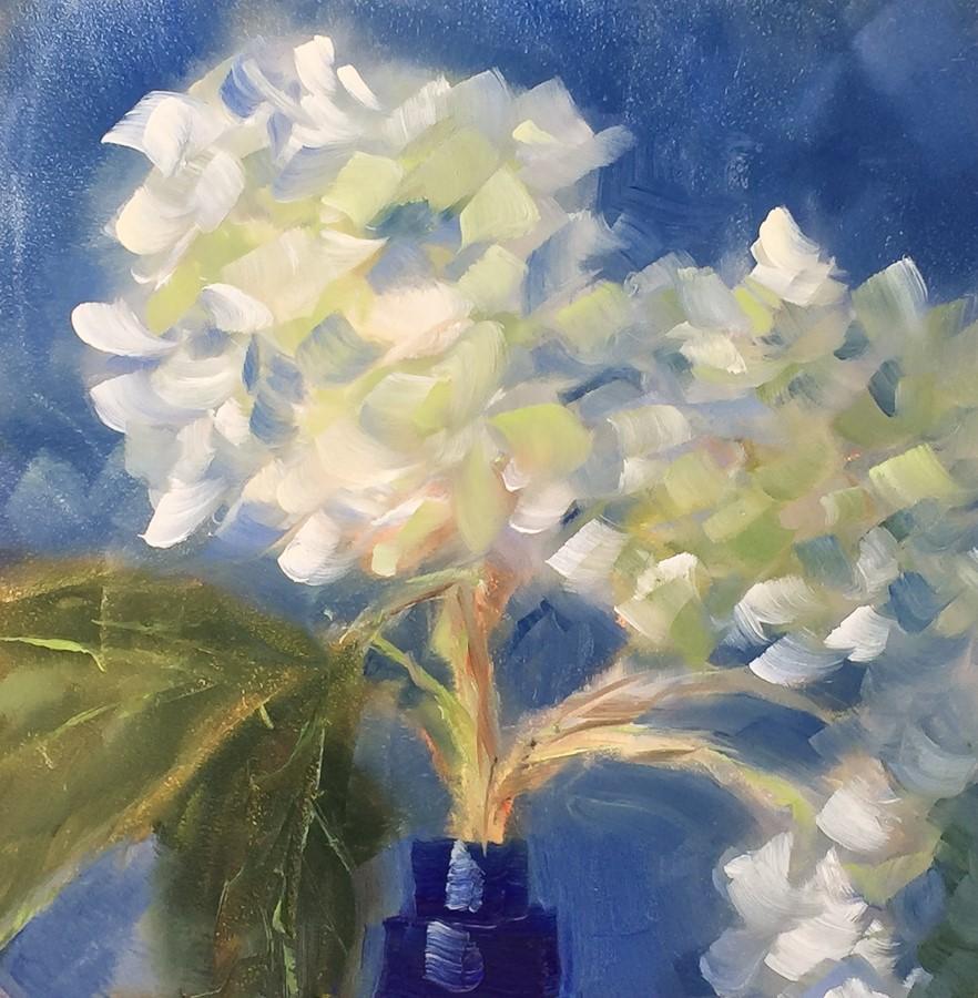 """#107 - Blue Hydrangea"" original fine art by Sara Gray"