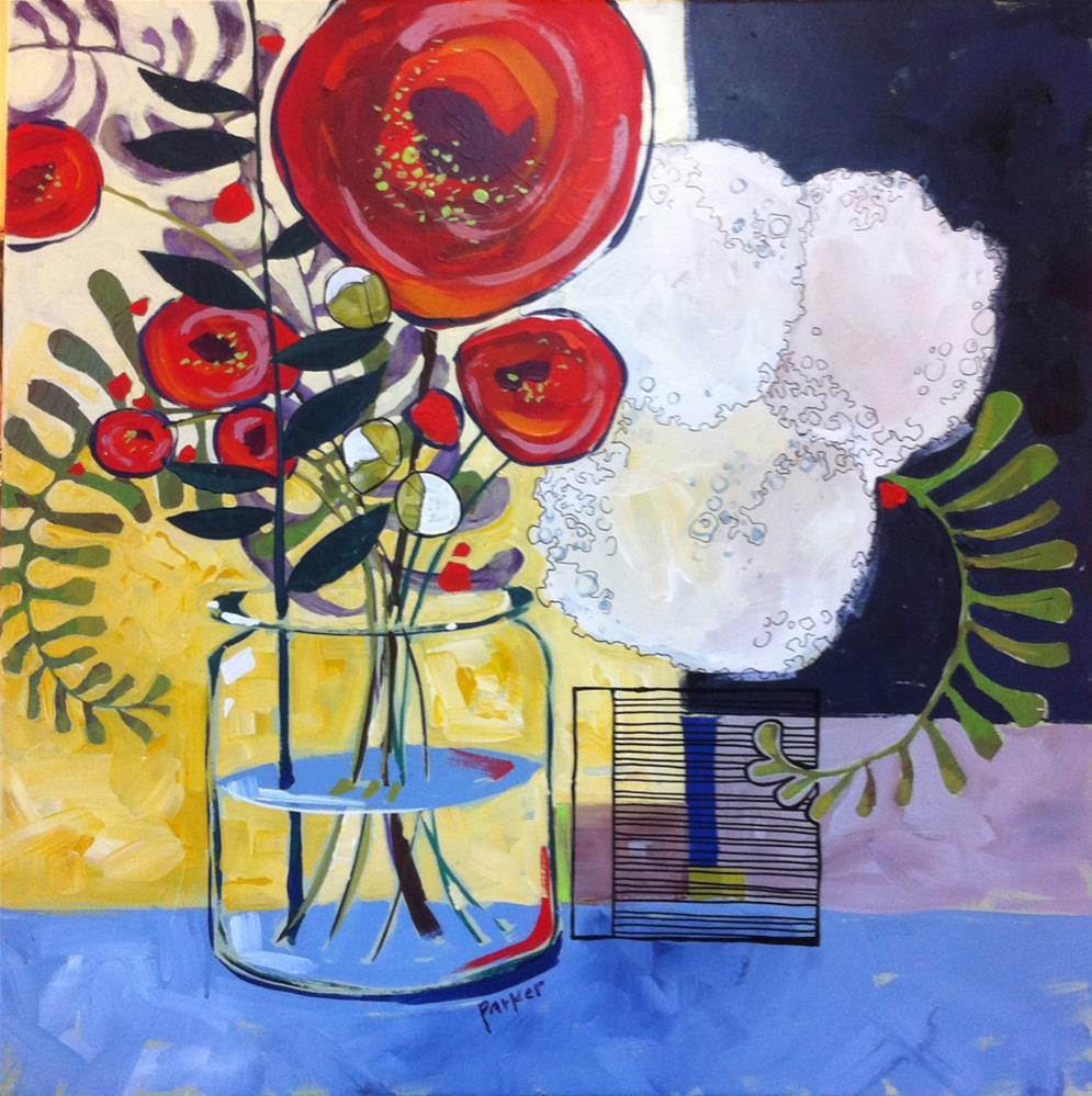 """Garden in a Jar"" original fine art by Teddi Parker"