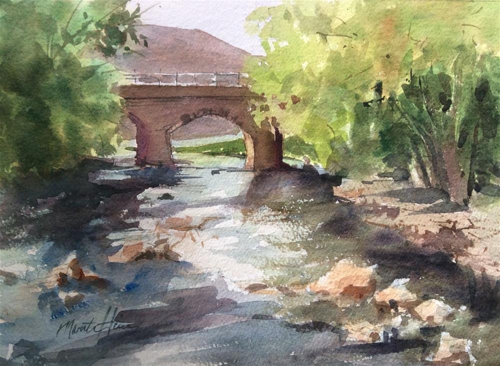 """View from the Bridge"" original fine art by Marita Hines"