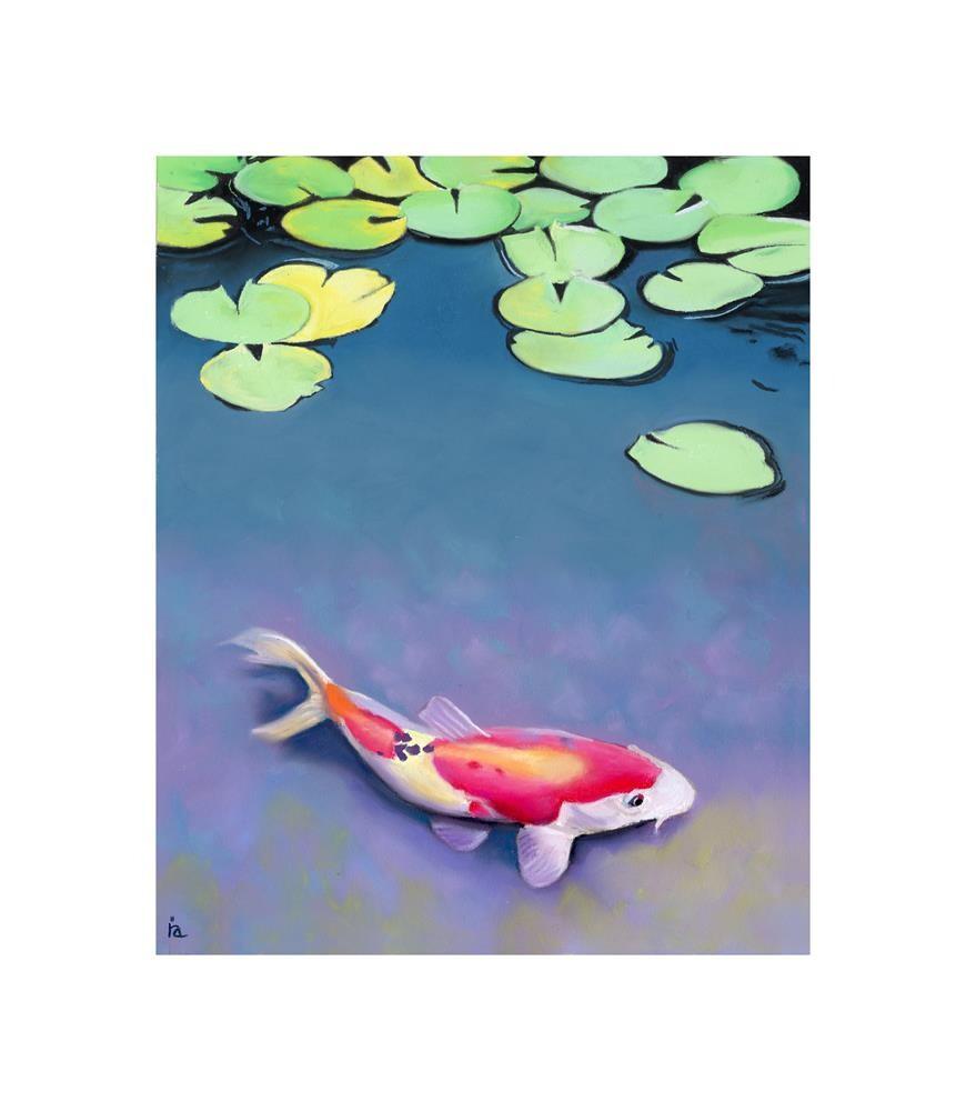 """The lily Pond"" original fine art by Ria Hills"