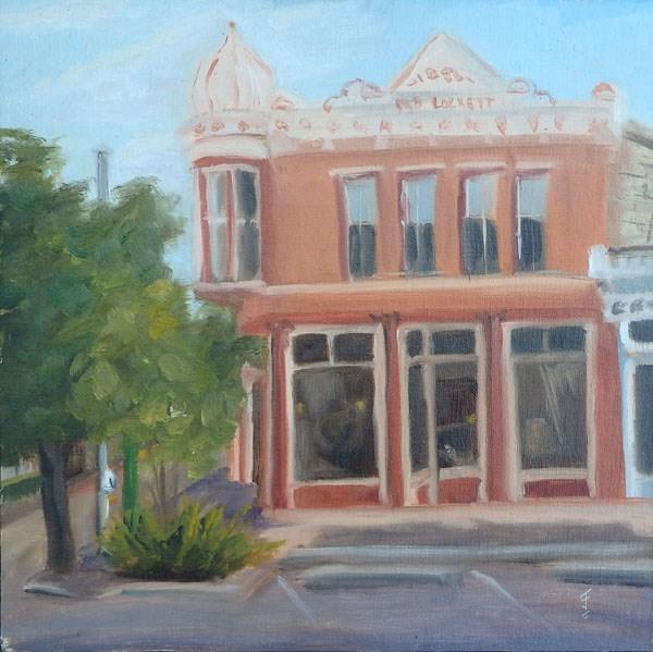 """The Lockett Building, Georgetown TX"" original fine art by Jane Frederick"
