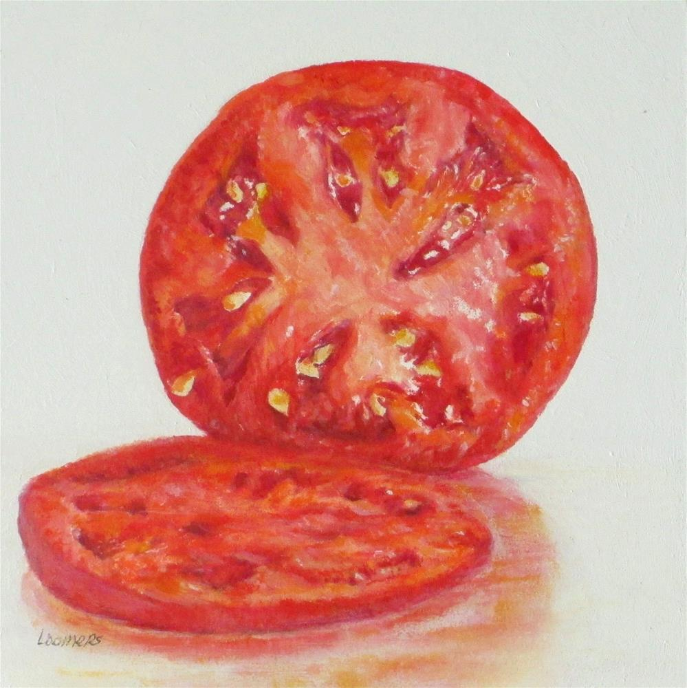 """""""Tomato Section"""" original fine art by Linda Demers"""