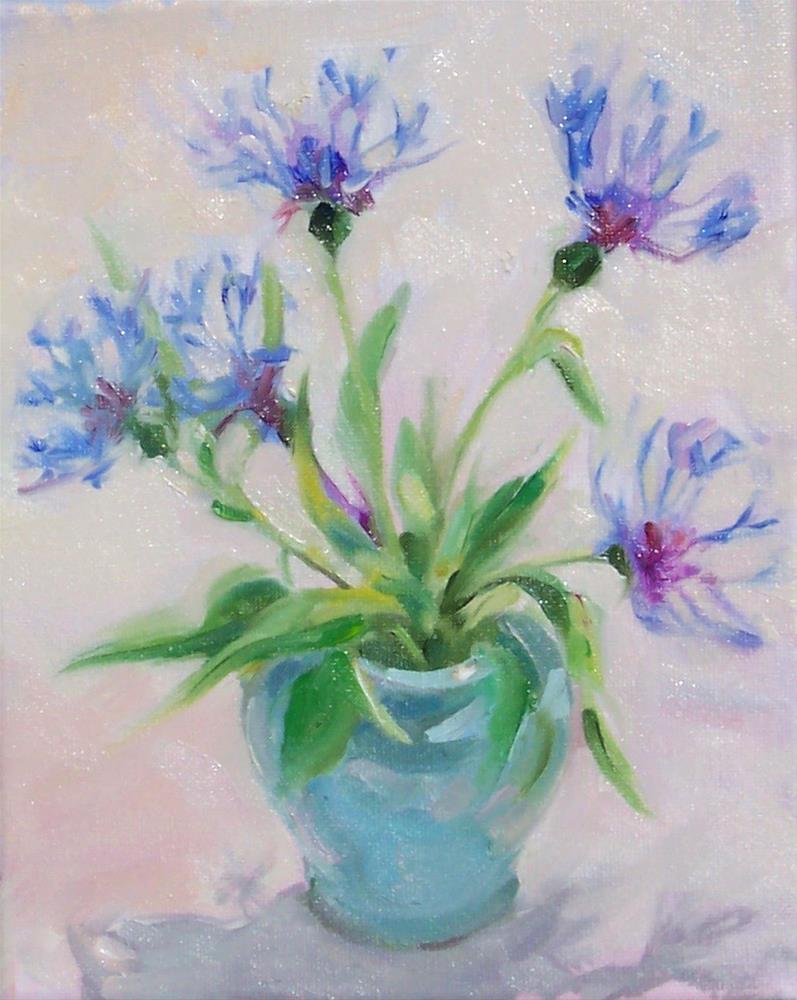 """Pretty Flowers,still life,oil on canvas,10x8,price$250"" original fine art by Joy Olney"