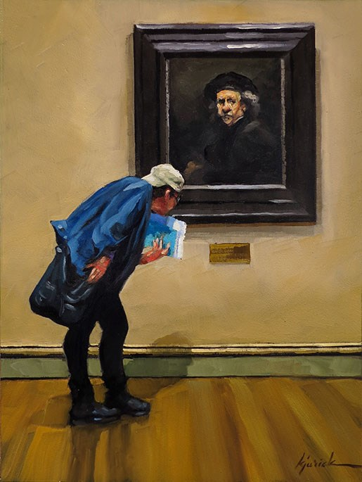 """The Man Himself"" original fine art by Karin Jurick"