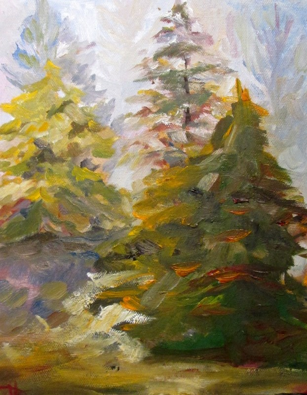 """""""Piney Woods"""" original fine art by Delilah Smith"""