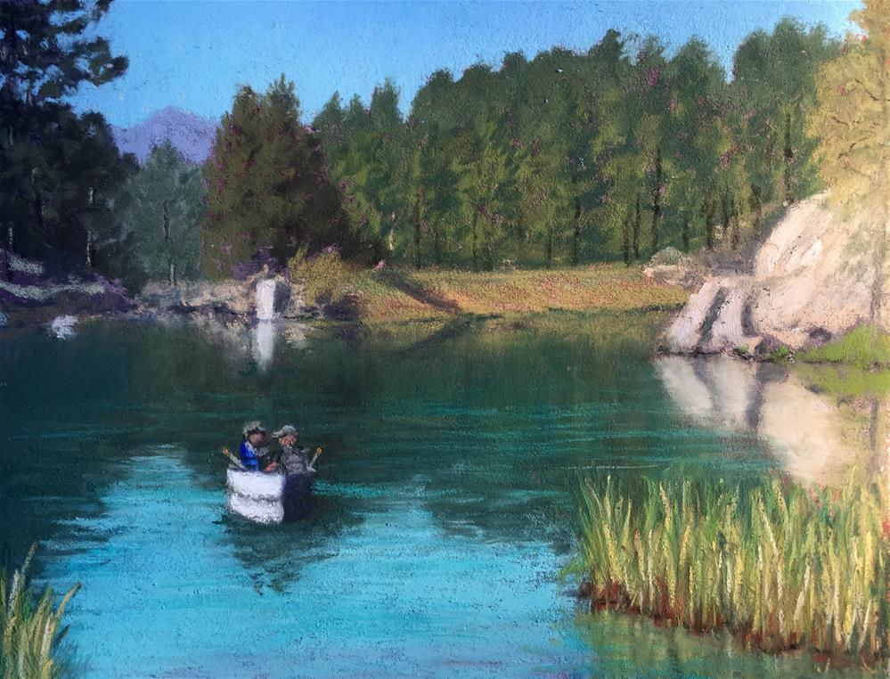 """The Erreas on Bismarck Lake"" original fine art by Marti Walker"
