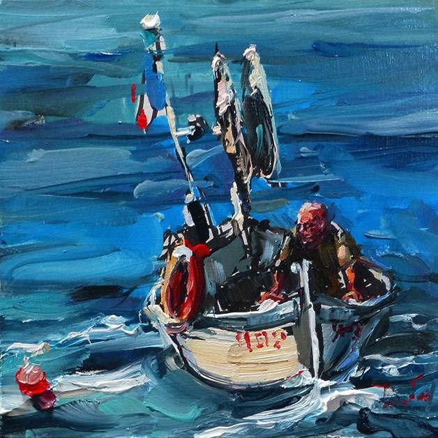"""""""Fischer"""" original fine art by Jurij Frey"""