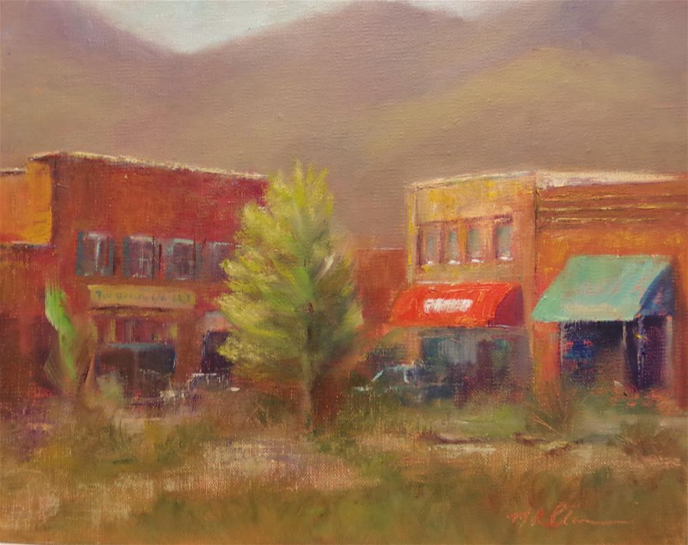 """Town Center"" original fine art by Marilyn R. Place"